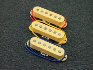 Ironstone Stratocaster Pickups Silver Alnico V