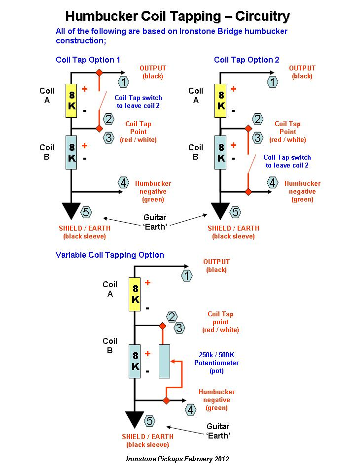 Humbucker Coil Tapping Circuit