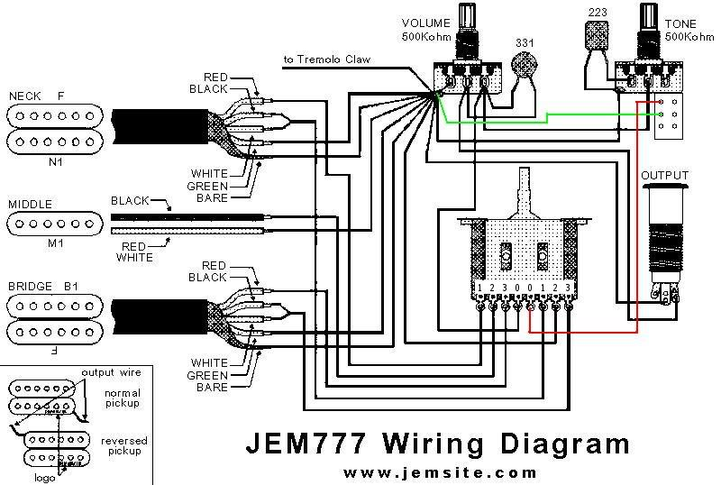 JEM777wSwitch humbucker hss hsh coil tapping ironstone electric guitar pickups les paul coil tap wiring diagram at fashall.co
